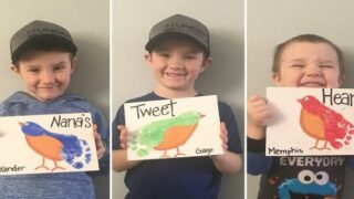 Make Adorable Painted Birds Out Of Your Kids' Footprints