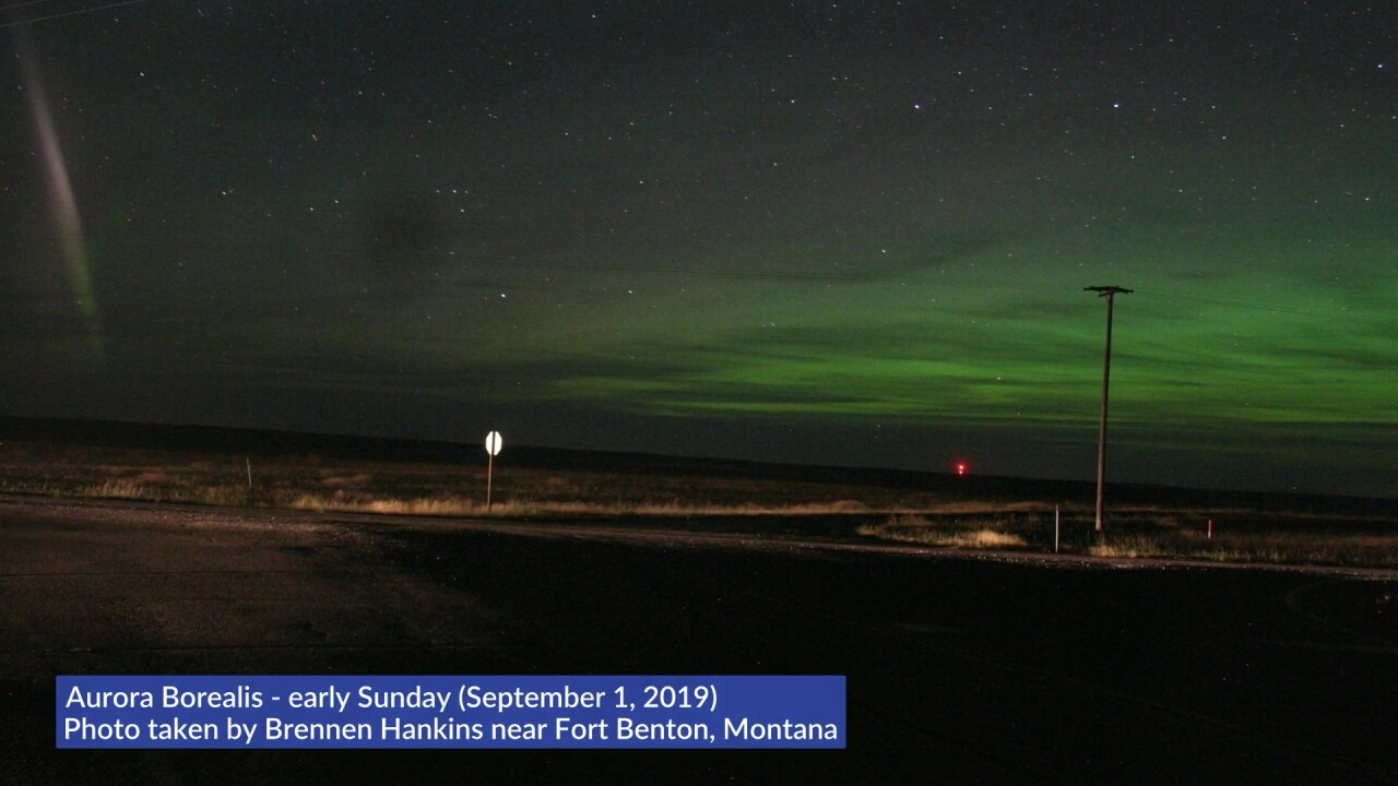 Northern Lights over Montana (September 1, 2019)