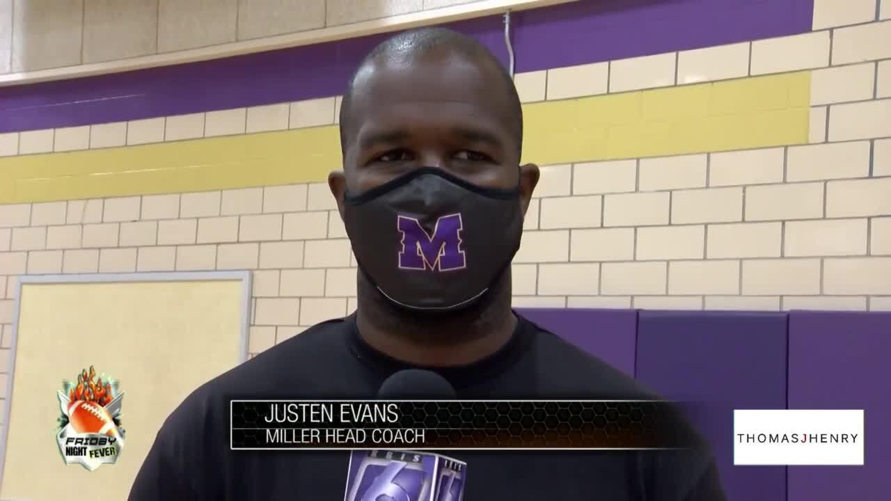 Miller coach Justen Evans