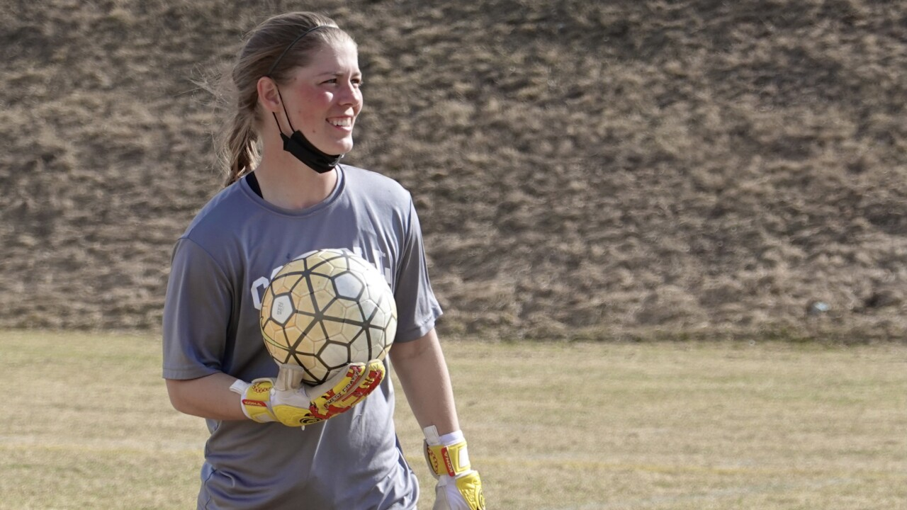 Carroll College's Sarah Conway snares shots on goal, fly balls in the outfield