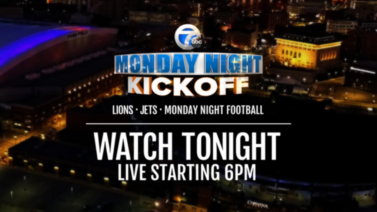 Watch our Monday Night Kickoff show ahead of the Jets vs. Lions