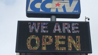 CCRV open to serve your needs for travel trailers, RVs