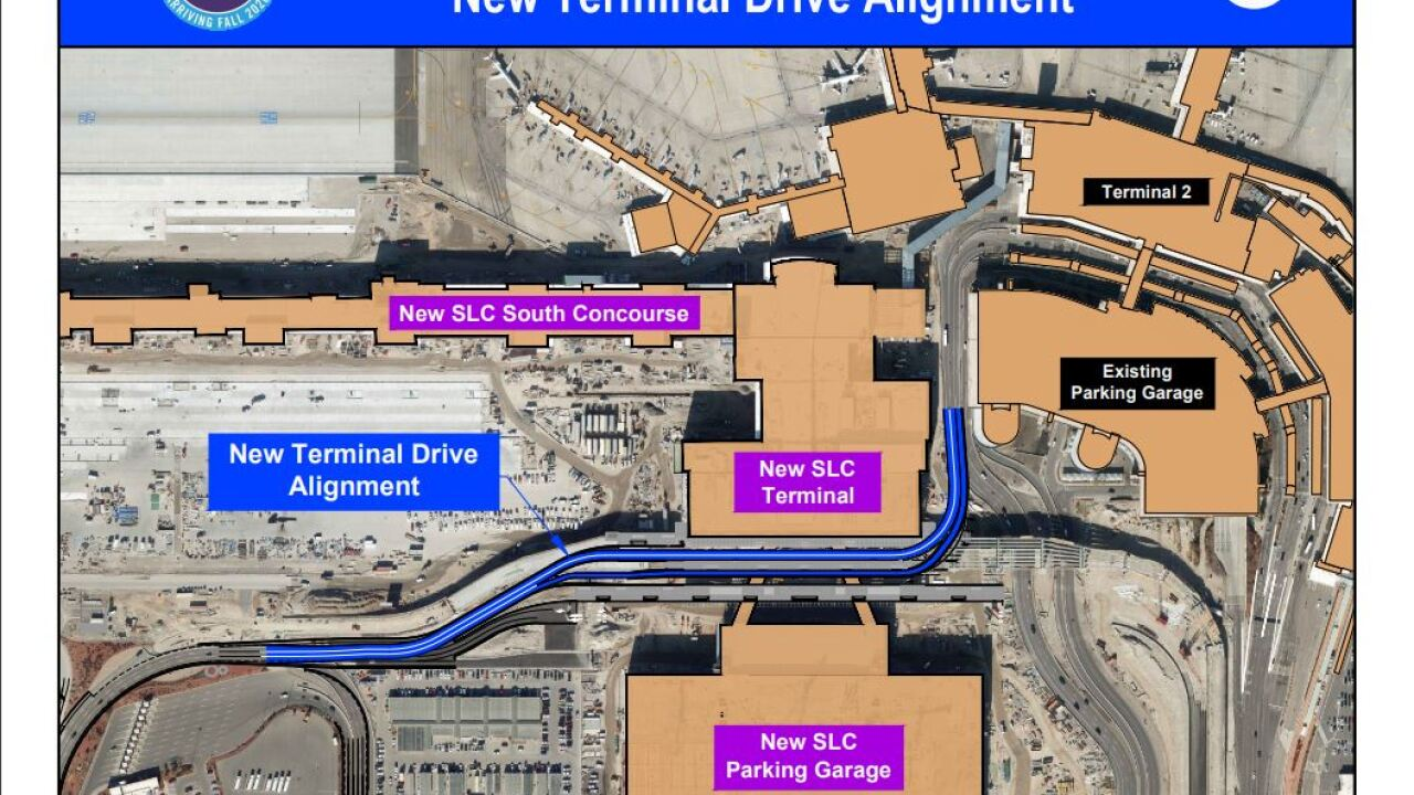 Detour for passengers exiting Salt Lake City Airport takes effect Friday