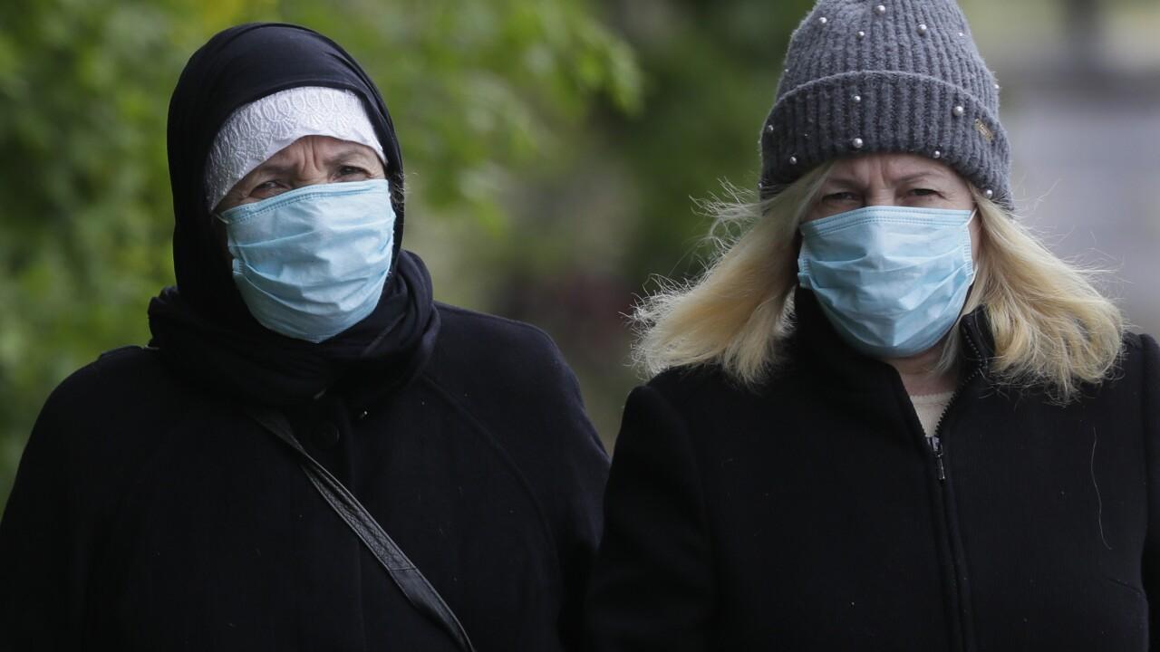 Virus Outbreak Britain Masks