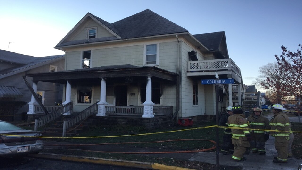 Who started fire that killed 4 sisters in Flora?