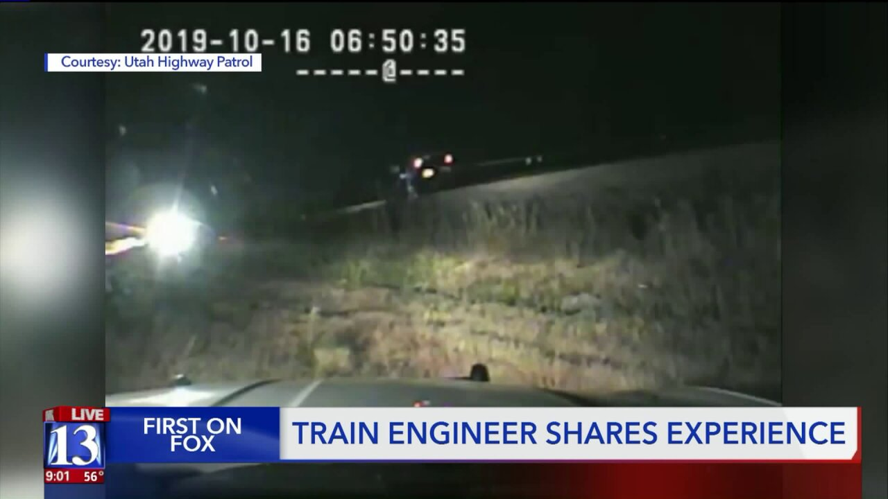 Engineer recounts moment of impact after Utah trooper rescues driver from oncomingtrain