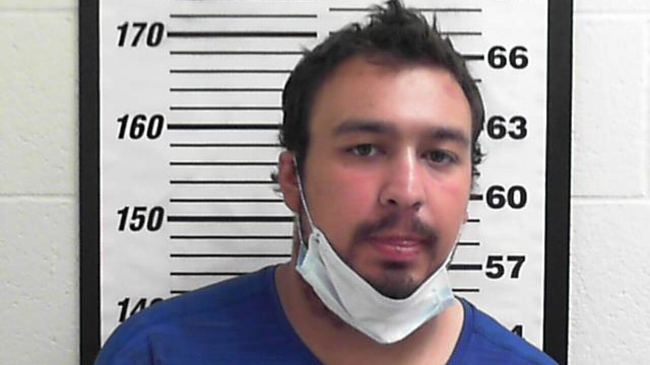 Mug shot of Kaydin Andreason taken at the Davis County Jail.