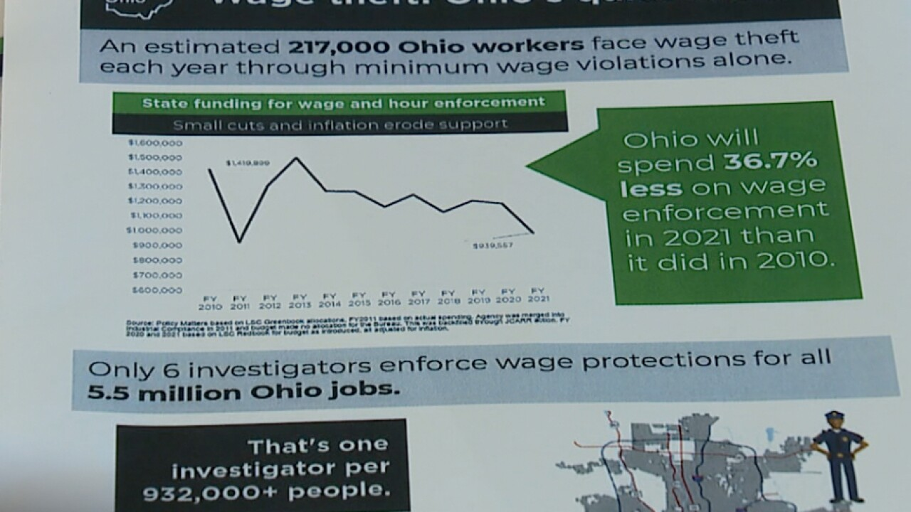 Report: N.E. Ohio wage theft hits minimum wage workers hardest