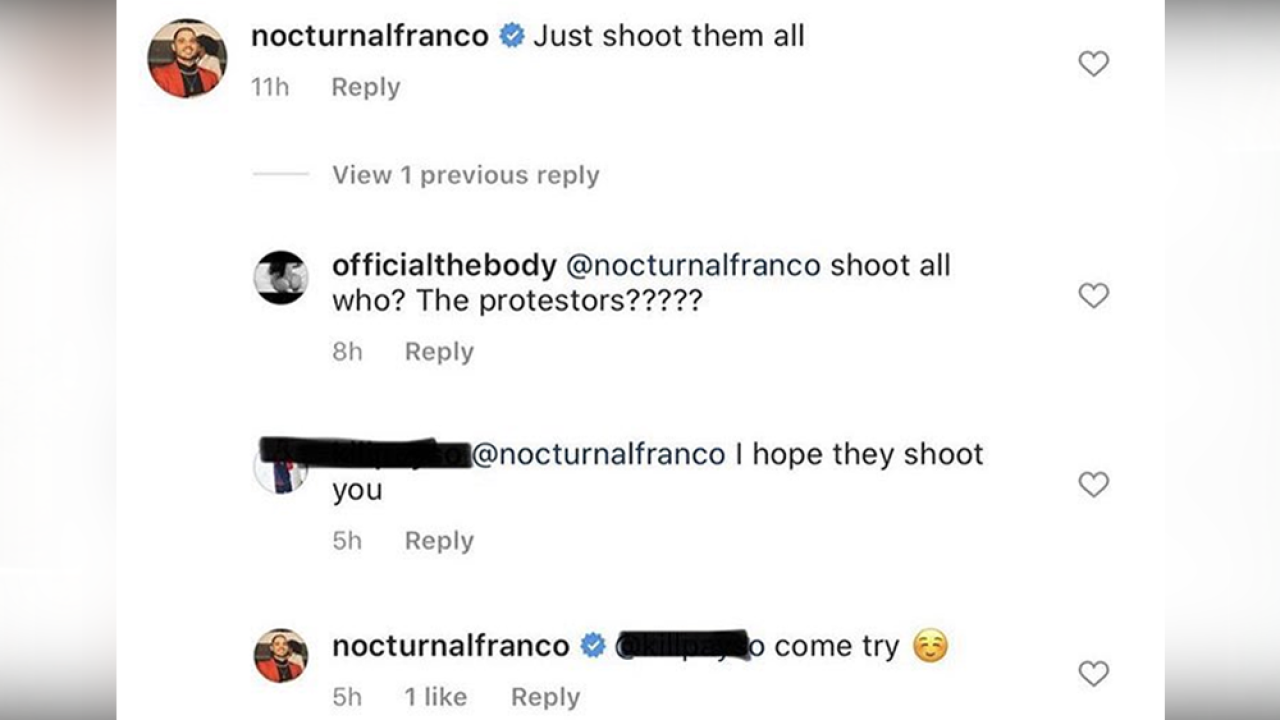 Co-owner of restaurant resigns after 'just shoot them all' comment on IG about Tampa protesters