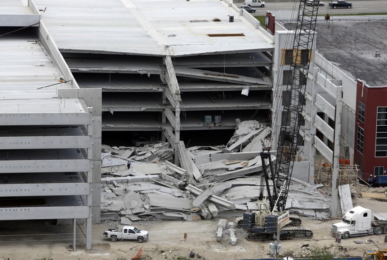 Miami Dade College West Campus parking garage collapse, Oct. 10, 2012