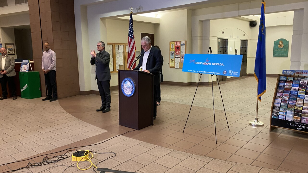 Gov. Steve Sisolak announced the shutdown of all casinos and nonessential businesses across Nevada to slow the spread of the COVID-19
