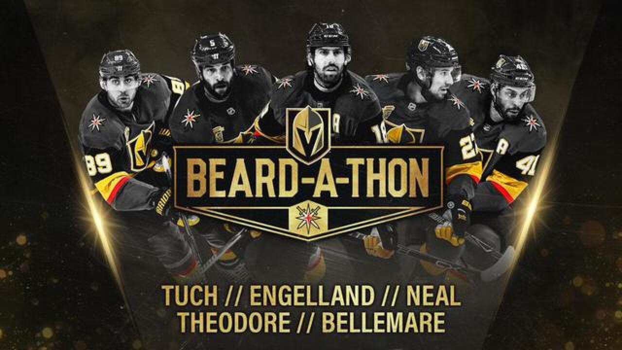 Participate in Vegas Golden Knights playoff beard fundraiser and win prizes
