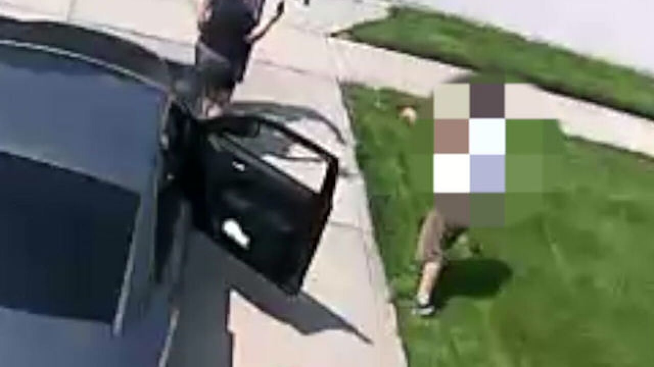 WATCH: Woman attacks neighbors with yard signs