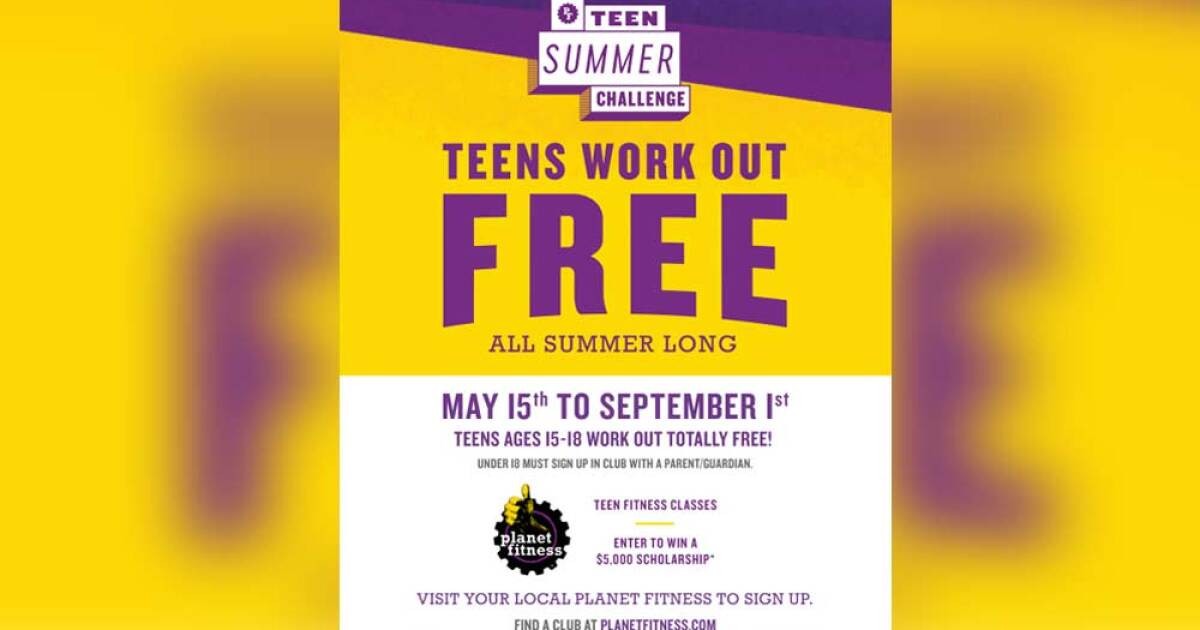 Teens Can Work Out For Free This Summer At Planet Fitness Get A