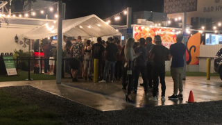 Video shows large, late-night crowd outside Tampa bar
