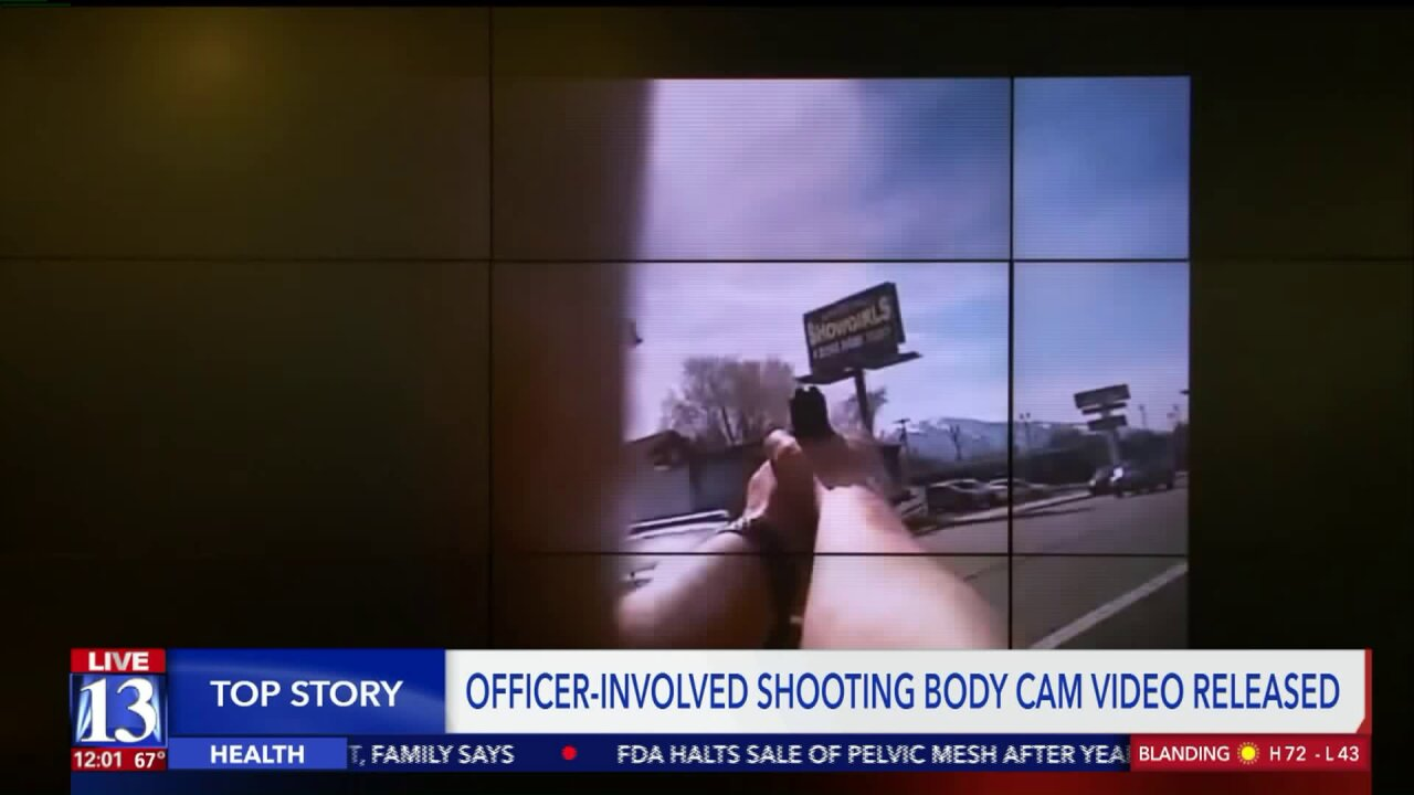 Salt Lake City Police release body cam footage from chase, deadly shootout