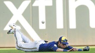 APTOPIX NLDS Brewers Braves Baseball