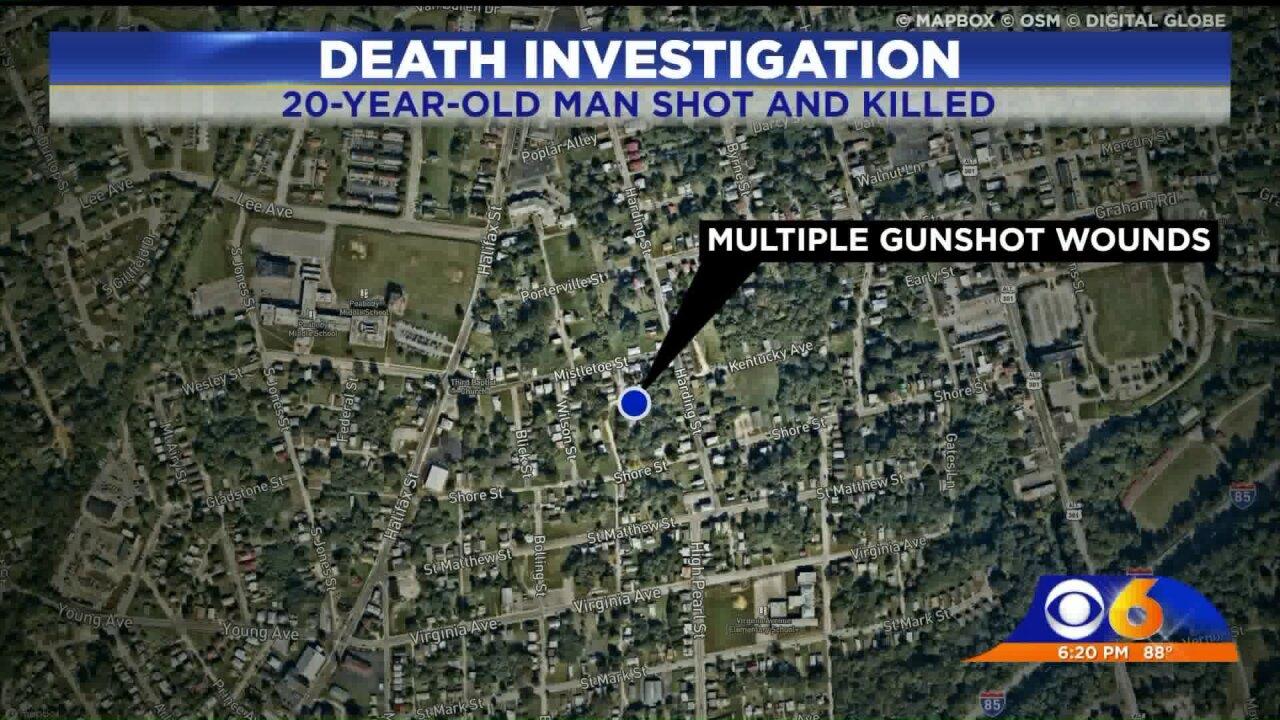 Man found shot at Petersburg intersectiondies