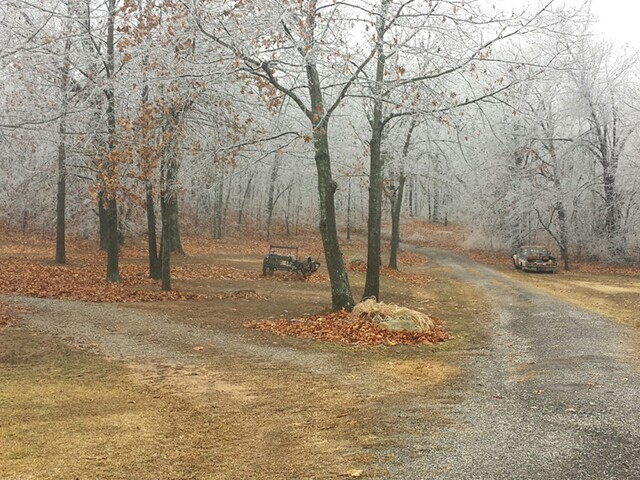 Pictures of winter weather including freezing rain and ice in Green Country
