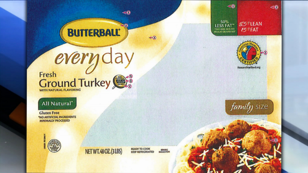 Butterball recalls more than 78K pounds of ground turkey due to possible salmonella contamination