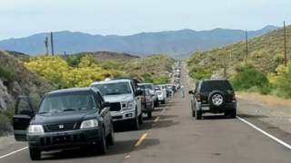 Traffic backup at Lake Pleasant after police incident