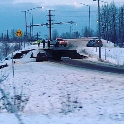 Photos: Earthquake causes major damage in Alaska