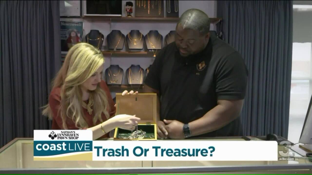 Heavy jewelry and boxes of watches examined this time looking for Trash or Treasure on CoastLive