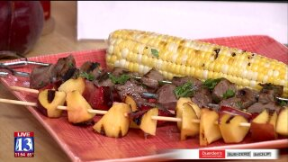 Citrus-Marinated Beef Top Sirloin & FruitKabobs