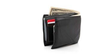 Black Leather Wallet money finance financial finances cash