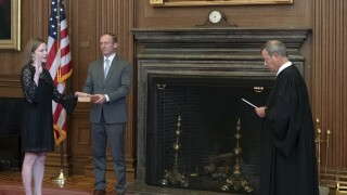 Amy Coney Barrett officially sworn in as justice as issues important to Trump await