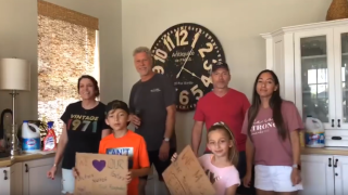 Ken Zimmerman and family sing 'COVID-19' to tune of 'Sweet Caroline'