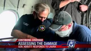 Gov. Greg Abbott assessed Hurricane Laura's damage