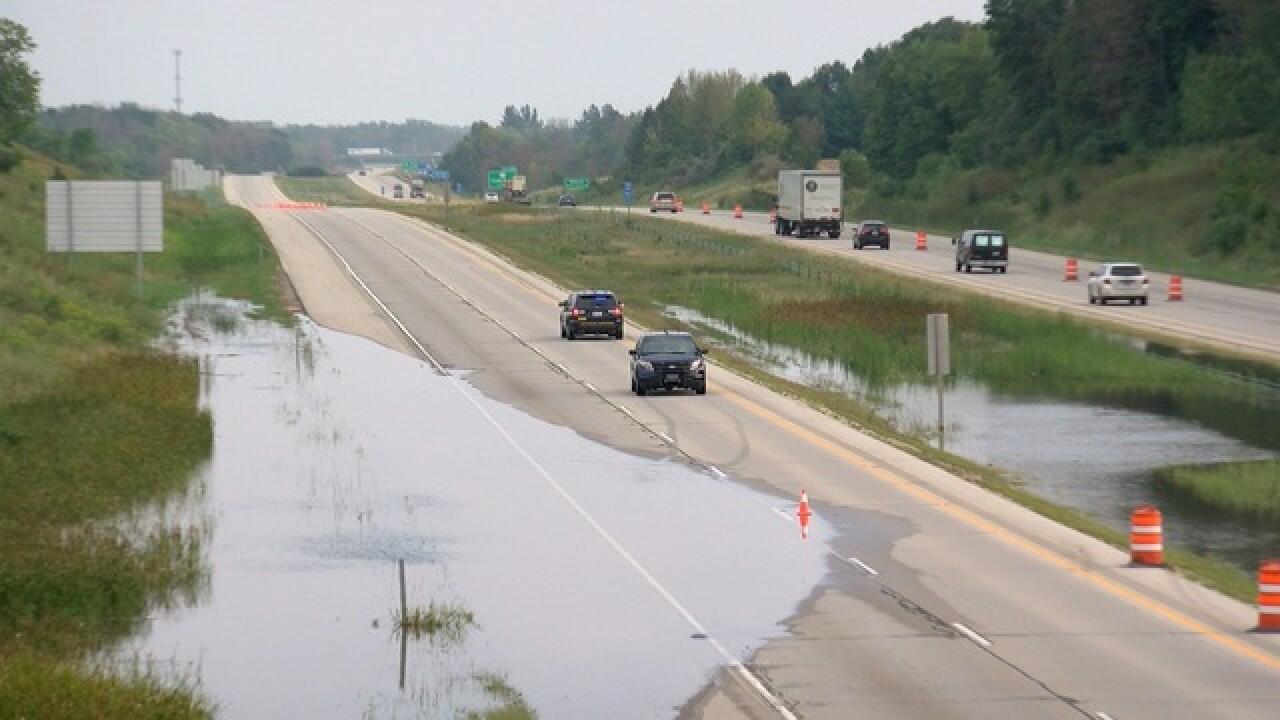 Flooding closes roads across Wisconsin on Labor Day Weekend