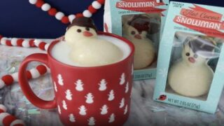 This Trader Joe's Chocolate Snowman Turns Warm Milk Into Hot Cocoa