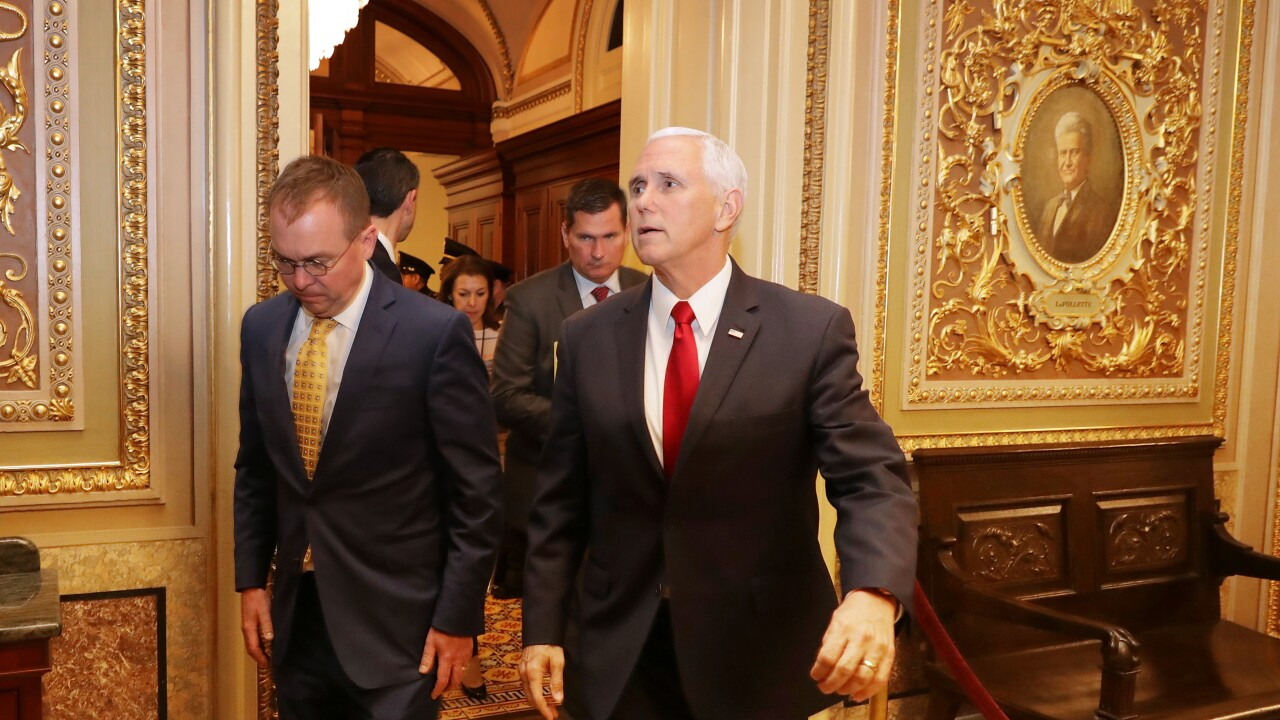 Mike Pence as shutdown nears