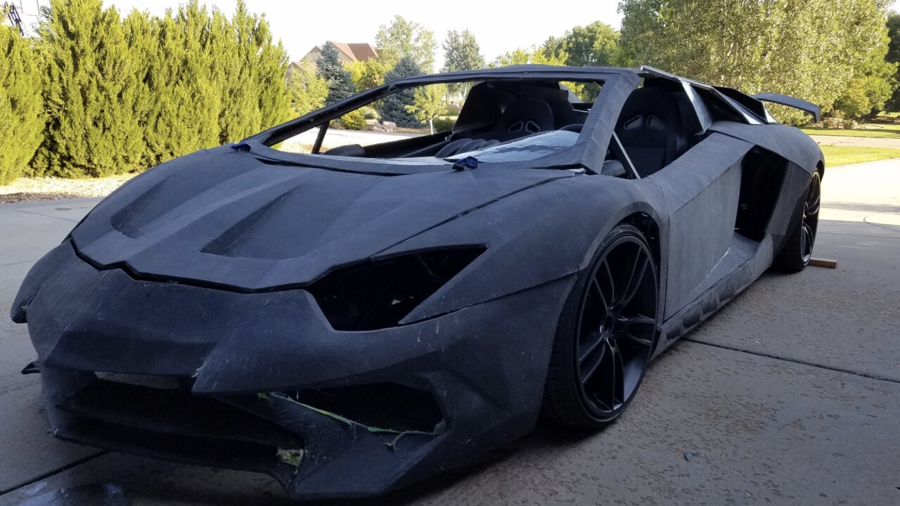 A family making a 3D-printed Lamborghini replica is surprised with the real thing when the carmaker heard about the project