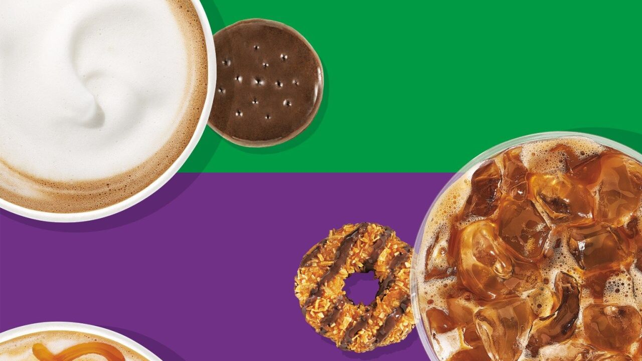 Dunkin' adds more Girl Scout cookie-inspired coffee flavors to its menu
