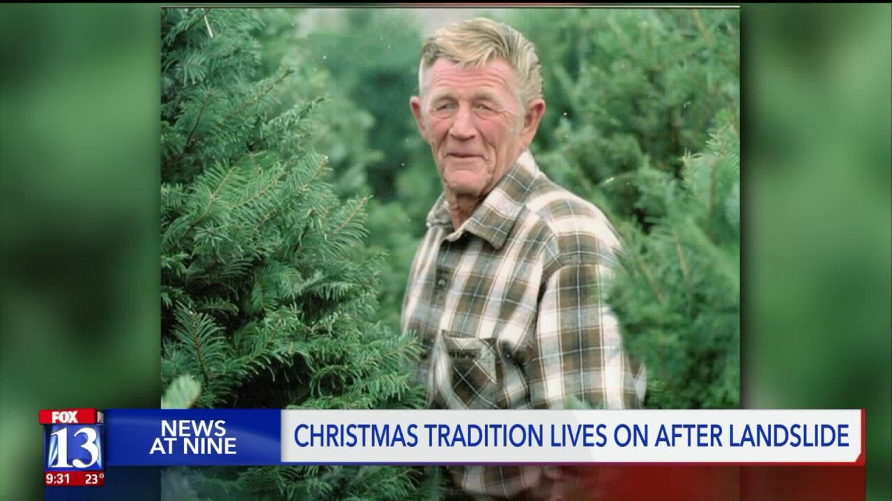 Despite landslide tragedy, Utah family provides Christmas trees for community, bringing family and friends together