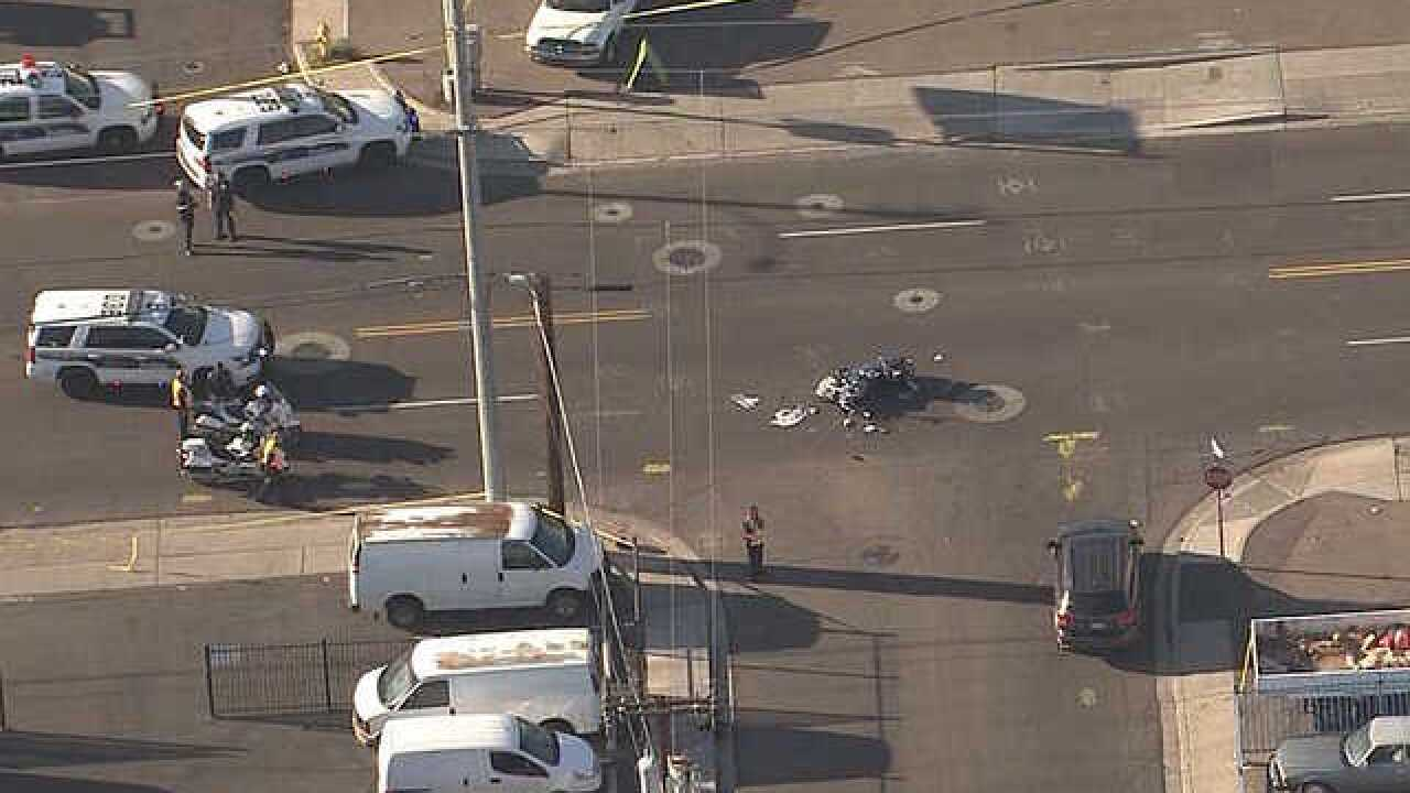 Motorcyclist killed after colliding with truck in Phoenix