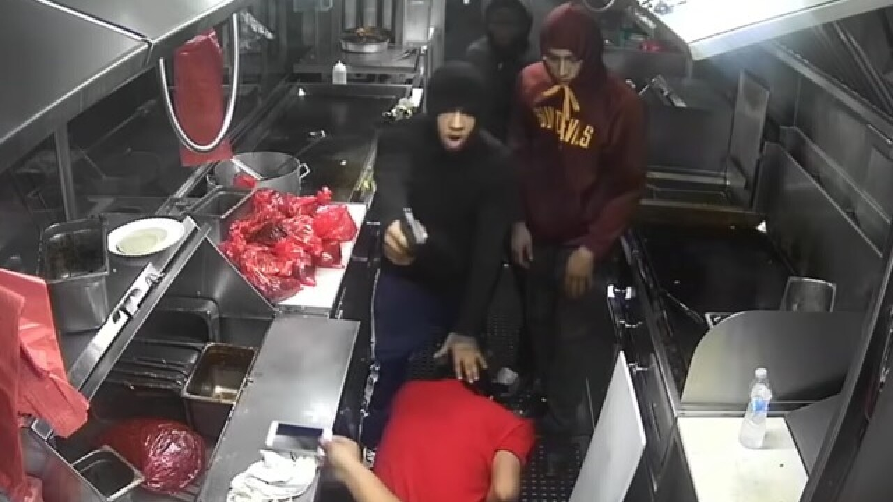 Taco truck robbers pistol-whip worker