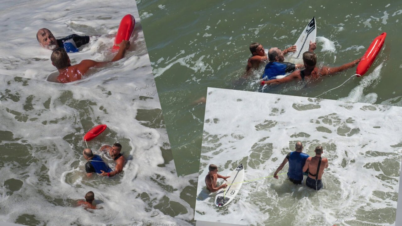 Photographer captures dramatic ocean rescue of surfer in OBX