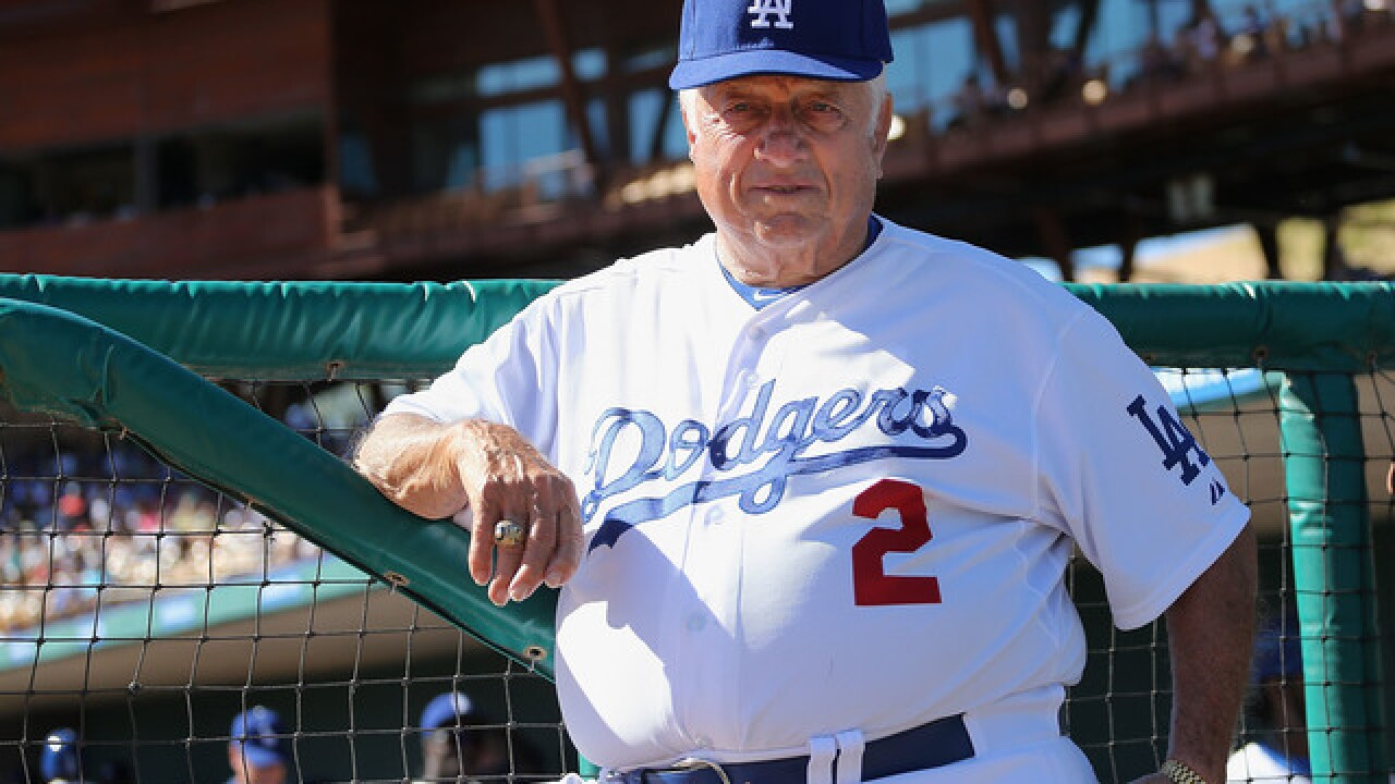 Legendary Dodgers manager Tommy Lasorda hospitalized