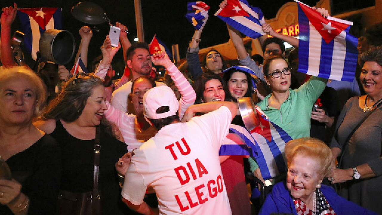 Miami's Cuban population celebrates, reflects upon Fidel Castro's death