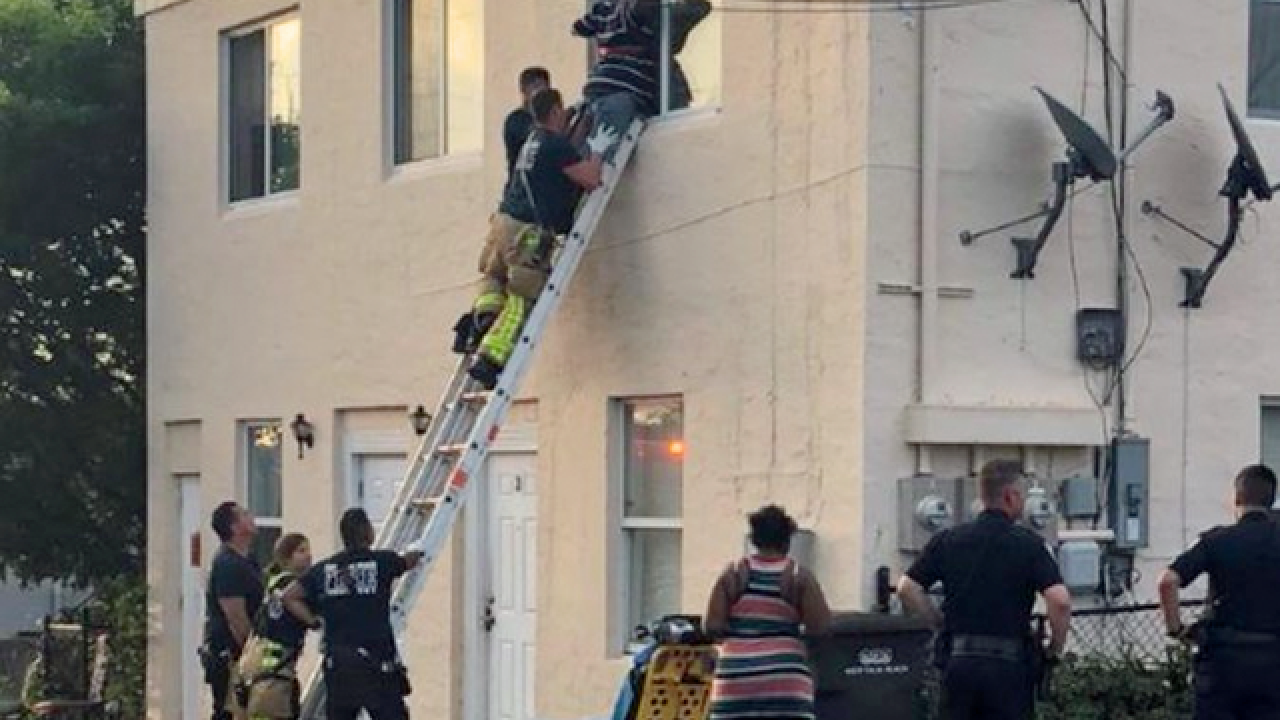 2 people trapped, rescued by firefighters after dog attack in West Palm Beach