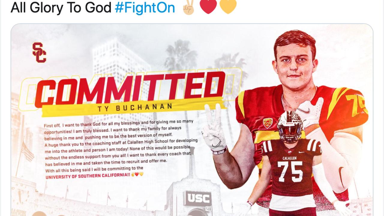 Calallen's Ty Buchanan talks his USC commitment