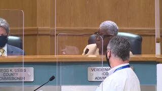 Verdenia Baker at Palm Beach County commission meeting, July 14, 2020