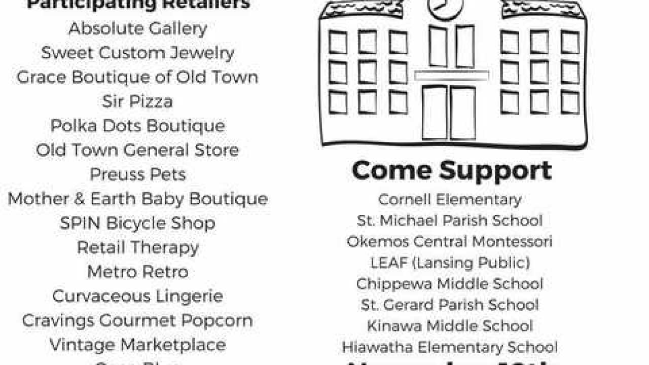 Old Town retailers donate profits to local schools