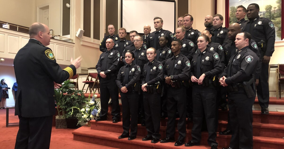'We're here to help' Newport News Police Department welcomes 15 new officers