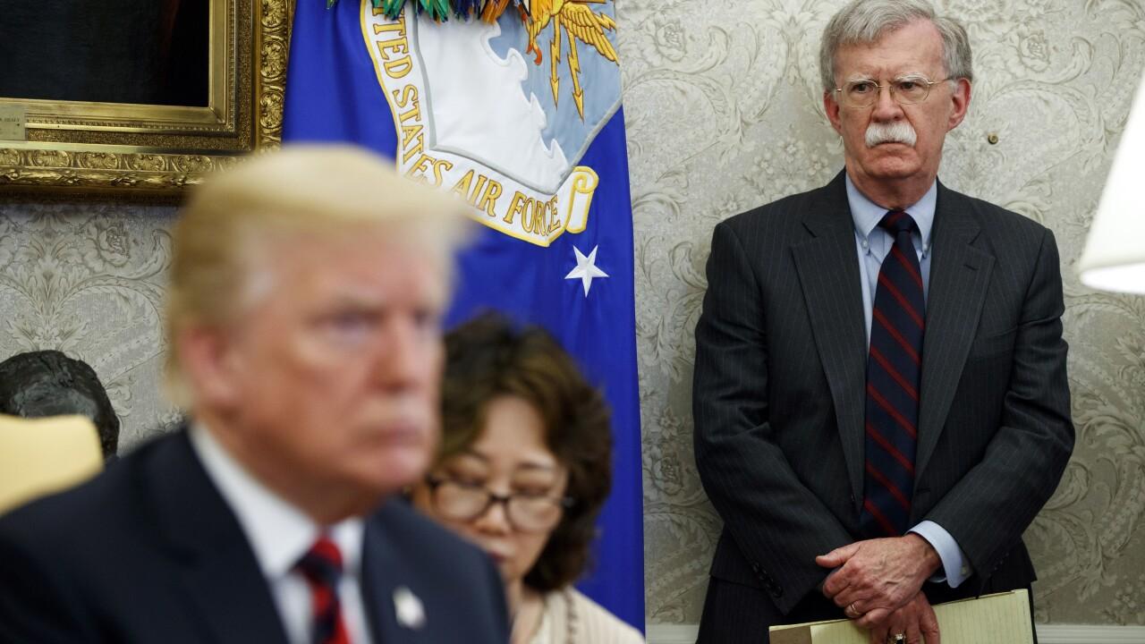 John Bolton and Donald Trump, 2018