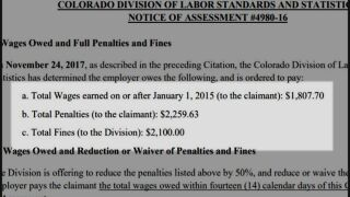 Division of Labor Standards and Statistics investigation paperwork